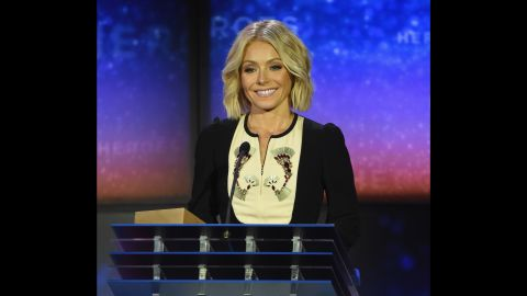 """Kelly Ripa -- Emmy-winning co-host of TV's """"LIve with Kelly and Michael"""" -- was among the presenters at the 2015 CNN Heroes award ceremony."""