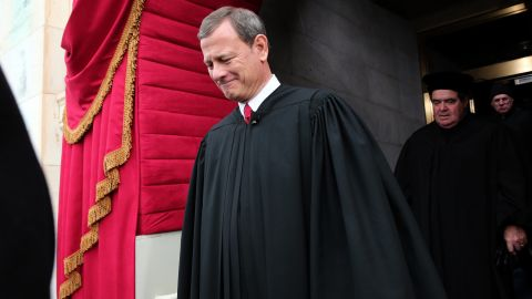 Supreme Court Chief Justice John Roberts arrives during the presidential inauguration on the West Front of the U.S. Capitol January 21, 2013 in Washington, D.C.
