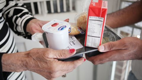 """A few dollars can feed a hungry senior citizen. Though the Meals on Wheels network feeds 2.5 million homebound seniors annually, donating to<a href=""""https://scsatl27452.thankyou4caring.org/sslpage.aspx?pid=298"""" target=""""_blank"""" target=""""_blank""""> the local Meals on Wheels Atlanta office</a> can help get some of the 365 seniors off the waiting list."""