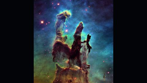 """<strong>January 6:</strong> NASA releases a stunning new image of the so-called <a href=""""http://www.cnn.com/2015/01/06/tech/nasa-pillars-creation/index.html"""" target=""""_blank"""">Pillars of Creation,</a> one of the space agency's most iconic discoveries. The giant columns of cold gas, in a small region of the Eagle Nebula, were popularized by a similar image taken by the <a href=""""http://www.cnn.com/2015/04/19/photos/cnnphotos-hubble-space-telescope-25th-anniversary/"""" target=""""_blank"""">Hubble Space Telescope</a> in 1995. <a href=""""http://www.cnn.com/2014/01/10/tech/gallery/wonders-of-the-universe/index.html"""" target=""""_blank"""">See other wonders of the universe</a>"""