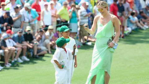 Vonn grew close to Woods' kids Charlie and Sam -- walking around the Par-3 course with the pair at the 2015 Augusta Masters.