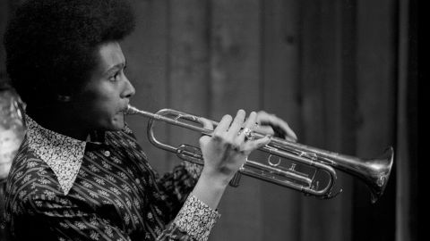 """<a href=""""http://www.cnn.com/2015/11/25/entertainment/cynthia-robinson-sly-family-stone-obit/index.html"""" target=""""_blank"""">Cynthia Robinson</a>, shown here in a San Francisco recording studio, was the pioneering trumpeter for the psychedelic soul group Sly and the Family Stone. She died November 23 at the age of 71."""