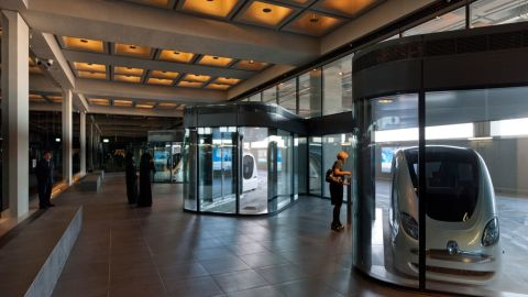 """the city currently uses driverless pods known as """"personal rapid transit"""" (PRT) carts."""