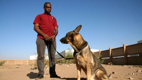 Dr Muiz Ali Taha, founder of the canine mine clearance program in Sudan.