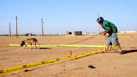 Training goes on in Soba, north of Khartoum.