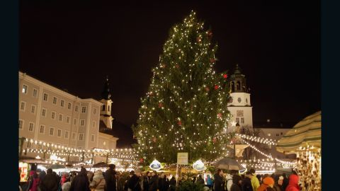 In Austrai, Salzburg's popular Christmas market stretches from Mozartplatz all the way to Domplatz in front of Salzburg Cathedral.