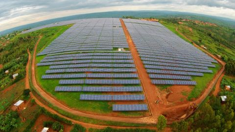 """In Rwanda, an Africa-shaped 8.5 <a href=""""http://edition.cnn.com/2016/07/15/africa/africa-renewables-superpower/"""">megawatt solar plant</a> east of Kigali came into full production in December 2015. It has boosted<a href=""""http://gigawattglobal.com/2015/02/08/gigawatt-global-launches-east-africas-first-solar-field/"""" target=""""_blank"""" target=""""_blank""""> the country's electricity capacity by 6%</a>."""