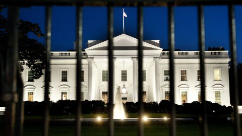 The White House is seen at dusk on the eve of a possible government shutdown as Congress battles out the budget in Washington, DC, September 30, 2013. AFP PHOTO / Saul LOEB (Photo credit should read SAUL LOEB/AFP/Getty Images)