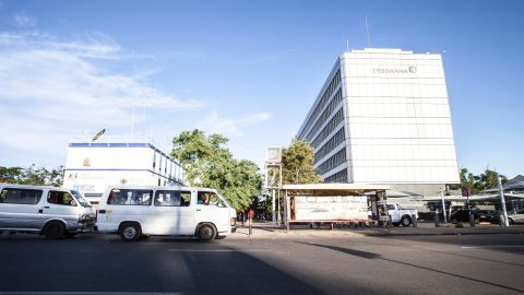 Debswana's headquarters in Gaborone, Botswana. Botswana has developed rapidly due to diamond exports, but faces a challenge to diversify its economy.