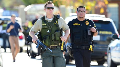 SWAT teams and a bomb squad were working to clear the buildings where the shootings took place.