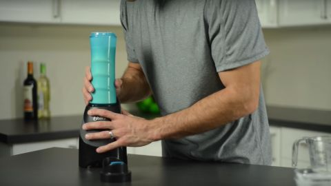 """Those big plans to eat healthier in the new year can fall away as the pace of life picks up. With this nifty gadget, the <a href=""""http://www.oster.com/deals/volume-discount/oster-blend-n-go-my-blend-blender-blue/BLSTPB-WBL-000.html"""" target=""""_blank"""" target=""""_blank"""">Oster Blend-N-Go My Blend Blender</a>, the object of your gifting affection can blend a healthy shake or smoothie in a BPA-free sports bottle that doubles as a to-go cup. The four-part appliance goes for about $25."""