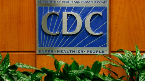 A podium with the logo for the Centers for Disease Control and Prevention  at the Tom Harkin Global Communications Center on October 5, 2014 in Atlanta, Georgia.