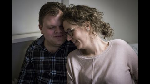 Camilla spends time with her boyfriend, Jesper, in their home in Randers, Denmark.