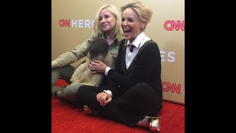 That's where Sharon Stone couldn't resist getting to know Snooki a little better.