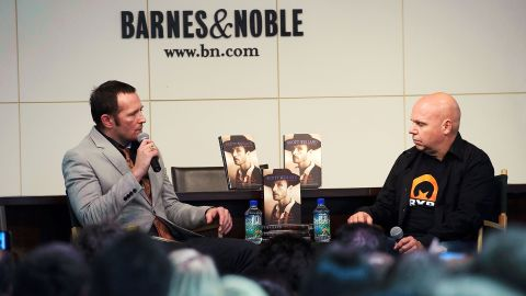 """Weiland's struggles with addiction were well-known, and he laid out his problems in a raw 2011 memoir, """"Not Dead & Not for Sale."""" The book included stories of Weiland being raped as an adolescent and his experiences with heroin. He speaks with TV personality Matt Pinfield about the book in New York in May 2011."""