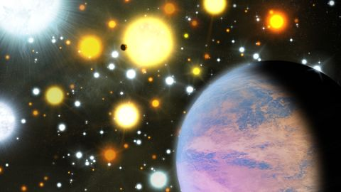 Astronomers discovered two planets less than three times the size of Earth orbiting sun-like stars in a crowded stellar cluster approximately 3,000 light-years from Earth in the constellation Cygnus.