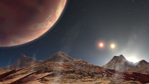 """This Jupiter-like planet in the HD-188753 system, 149 light-years from Earth, has three suns. The main star is similar in mass to our own Sun. The system has been compared to Luke Skywalker's home planet Tatooine in """"Star Wars."""""""