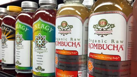 Kombucha tea has gone mainstream and is available in grocery store chains.