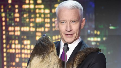 """Host  Anderson Cooper walked on stage carrying Snooki.  """"This is basically a dream come true,"""" he told the audience."""