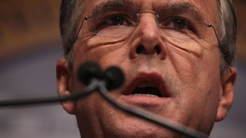 WASHINGTON, DC - DECEMBER 03:  Republican presidential candidate and former Florida Gov. Jeb Bush addresses the Republican Jewish Coalition at Ronald Reagan Building and International Trade Center December 3, 2015 in Washington, DC.  (Photo by Alex Wong/Getty Images)