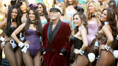 Playboy founder Hugh Hefner was 65 when son Cooper was born to his then-wife Kimberley Conrad.