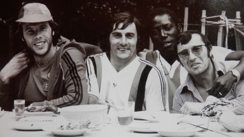 Pictured with former Dutch international Dick van Dijk, Adams enjoyed his time at Nice, helping the side finish second in the French championship in 1976. It was the closest Nice had come to winning the title since the club's last triumph in 1959.