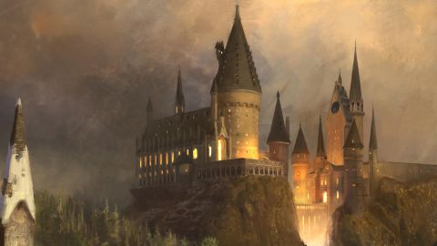 """""""The Wizarding World of Harry Potter"""" at Universal Studios Hollywood - Hogwarts Castle concept rendering"""