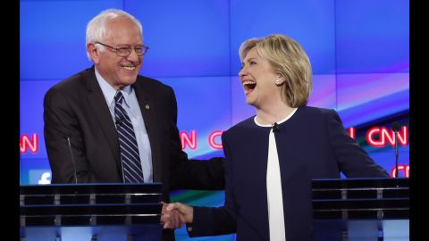 """One of the most memorable moments from this year's Democratic debates came on Tuesday, October 13, when Hillary Clinton and U.S. Sen. Bernie Sanders <a href=""""http://www.cnn.com/2015/10/13/politics/gallery/democratic-debate-las-vegas/index.html"""" target=""""_blank"""">shook hands</a> following Sanders' take on <a href=""""http://www.cnn.com/2015/09/03/politics/hillary-clinton-email-controversy-explained-2016/"""" target=""""_blank"""">the Clinton email scandal.</a> """"Let me say something that may not be great politics, but the secretary is right -- and that is that the American people are sick and tired of hearing about the damn emails,"""" Sanders said. """"Enough of the emails, let's talk about the real issues facing the United States of America."""""""