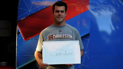 """College of Charleston student Clay Koch is feeling """"confident"""" about 2016."""