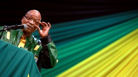 South African President and African National Congress (ANC) President Jacob Zuma leads addresses supporters during a campaign event at the Inter-fellowship Church in Wentworth township, outside of Durban, on April 9, 2014, ahead of elections on May 7. AFP PHOTO / RAJESH JANTILAL        (Photo credit should read RAJESH JANTILAL/AFP/Getty Images)