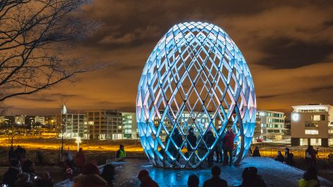 The festival features art installations from local artists as well as artists from from Finland, France, Belgium and Canada.