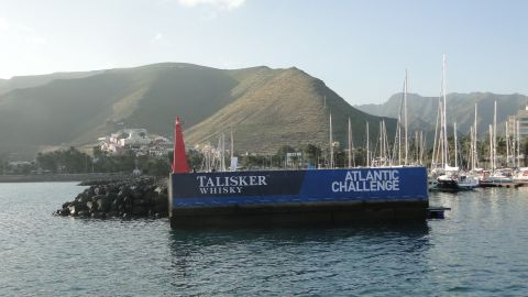 """The race departure point in La Gomera. All being well, the team will arrive roughly six weeks later in Antigua in the Caribbean. It is known as the <a href=""""https://www.taliskerwhiskyatlanticchallenge.com/"""" target=""""_blank"""" target=""""_blank"""">""""world's toughest rowing race.""""</a>"""