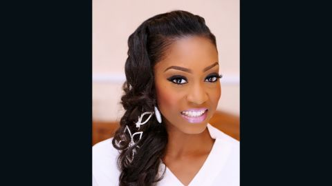 """<a href=""""https://www.instagram.com/banksbmpro/"""" target=""""_blank"""" target=""""_blank""""><strong> Banke Meshida Lawal</strong></a><strong>, makeup artist and founder of BM Pro Make Up, Nigeria.  </strong><br /><br />December is wedding season in Nigeria and one of Banke's busiest periods.<br />Here, bride-to-be, Folake Ogunde wears dark eyes paired with soft pink lips - a """"fashion savvy look,"""" Banke says."""