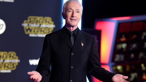 """British actor Anthony Daniels has climbed into a robot costume to play C-3PO in all seven """"Star Wars"""" movies."""