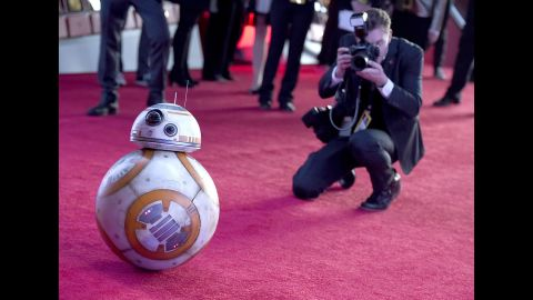 """This new droid, BB-8, is already drawing buzz after appearing in the """"Star Wars: The Force Awakens"""" trailers."""