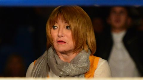 GLASGOW, SCOTLAND MAY 23 : Fight promoter Kellie Maloney watches on as Gary Cornish of Scotland takes on Zoltan Csala of Hungary during the IBO intercontinental championship match up at Glasgowâs Bellahouston Leisure Centre on May 23, 2015 in Glasgow, Scotland. (Photo by Mark Runnacles/Getty Images)