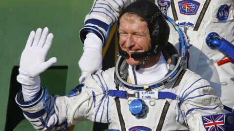 Britain's astronaut Tim Peake prior to blasting off to the International Space Station (ISS), on December 15, 2015.