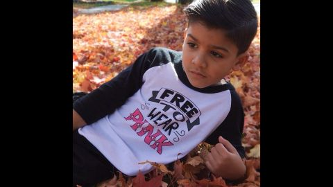 """""""Free to Wear Pink"""" is the message of this shirt offered by <a href=""""http://www.quirkiekids.com/"""" target=""""_blank"""" target=""""_blank"""">Quirkie Kids</a> for boys and girls."""