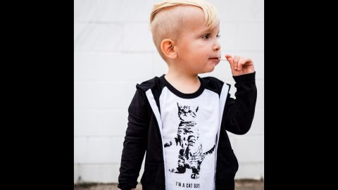 """""""I'm a Cat Guy"""" is the message on this <a href=""""http://www.freetobekids.com/"""" target=""""_blank"""" target=""""_blank"""">Free to Be Kids </a>T-shirt."""