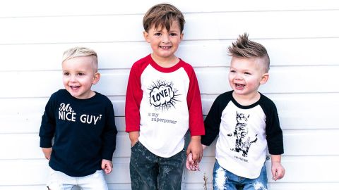 """<a href=""""http://www.freetobekids.com/"""" target=""""_blank"""" target=""""_blank"""">Free to Be Kids</a> offers graphic T-shirts with messages that try to bash stereotypes that boys have to be aggressive, sporty, macho and troublemakers."""