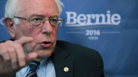 Democratic presidential candidate Sen. Bernie Sanders (I-VT) participates in an internet live stream discussion about putting families first in developing immigration policy at his campaign office December 7, 2015 in Washington, D.C.