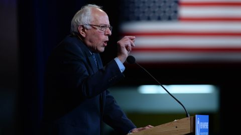 Democratic presidential candidate Bernie Sanders speaks at the Jefferson Jackson Dinner on November 29, 2015, in Manchester, New Hampshire.