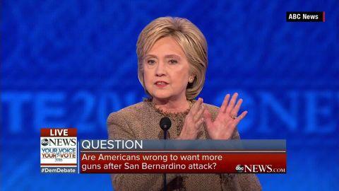 abc news democratic debate clinton gun control trump isis sot_00004226.jpg