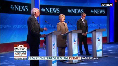 abc news democratic debate clinton sanders omalley  first lady bts_00003914.jpg
