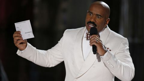 Steve Harvey had to apologize after he incorrectly announced Miss Colombia Ariadna Gutierrez at the winner at the Miss Universe pageant in December 2015. The winner was actually Miss Philippines Pia Alonzo Wurtzbach.