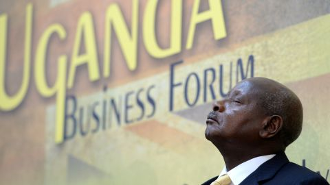 Museveni insists Africa should solve its problems before seeking outside aid.