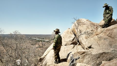 The Black Mambas patrol the Balule Reserve borders, walking up to 12 miles a day as they seek out poachers, their tracks and snares.