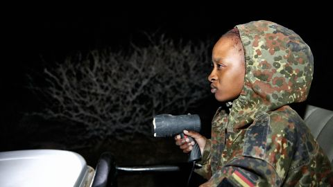 The Mambas often patrol at night, seeking out poachers with a spotlight.