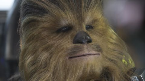 """<strong>Chewbacca</strong> (Peter Mayhew) returns, fresh from his last appearance in """"Episode III: Return of the Sith."""" The 7-foot-2 actor's career has almost exclusively been spent playing the loveable Wookiee. He even appeared in """"Glee"""" in the outfit in 2011."""