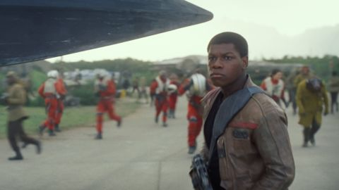 """<strong>Finn</strong> (John Boyega), a disillusioned member of the First Order. Boyega is no veteran of the silver screen but did have a hit with sci-fi comedy """"Attack the Block"""" in 2011, a performance that drew the attention of """"The Force Awakens"""" director J.J. Abrams."""